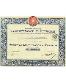 """S.A. -L'Equipement Electrique-"""""""""""
