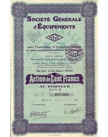 SGE Sté Générale d'Equipements pour l'Automobile, la Locomotion Aérienne
