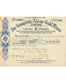 The Conquista-Xicao Gold Mines Ltd