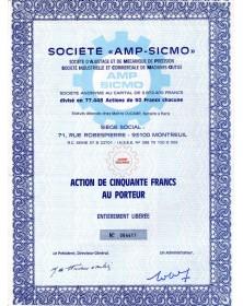 """Sté -AMP-SICMO-"""" Ajustage et Mécanique de Précision"""""""