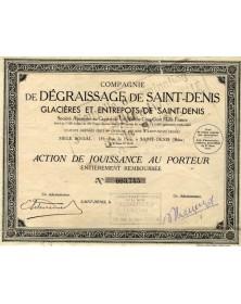 Cie de Dégraissage de Saint-Denis Glacières et Entrepôts de Saint-Denis
