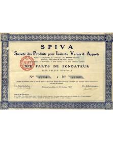 SPIVA Sté des Produits pour Isolants, Vernis & Apprêts