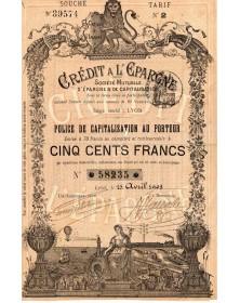 Crédit à l'Epargne - Sté Mutuelle d'Epargne & de Capitalisation