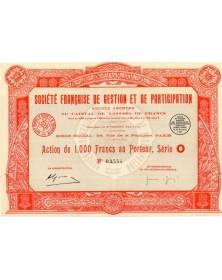 Sté Française de Gestion et de Participation