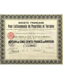 Sté Française pour Lotissements de Propriétés et Terrains