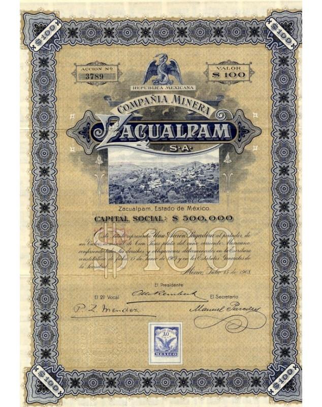 Republica Mexicana - Compañia Minera Zacualpam