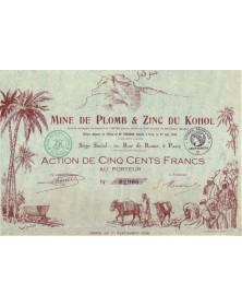 Mine de  Plomb & Zinc du Kohol