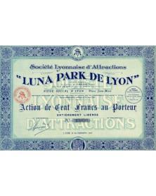 Sté Lyonnaise d'Attractions ''Luna Park de Lyon''