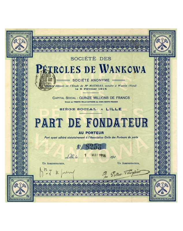Sté des Pétroles de Wankowa