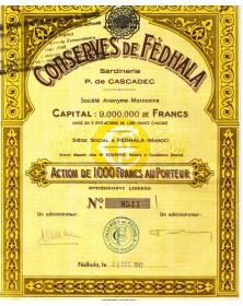 Conserves de Fédhala, Sardineries P. de Cascadec