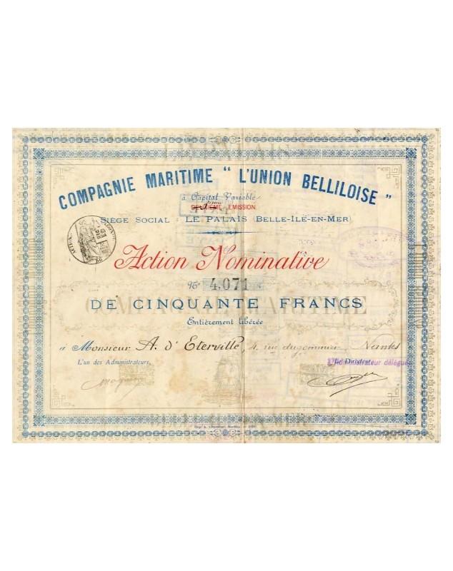 """Cie Maritime -L'Union Belliloise-"""""""""""