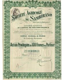 Sté Agricole du Sambirano