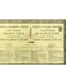 Sté de Placers Aurifères et de Travaux Publics de la Haute Italie