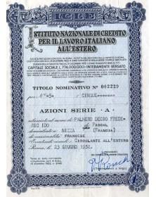 Istituto Nazionale Di Credito Per Il Lavoro Italiano All'Estero