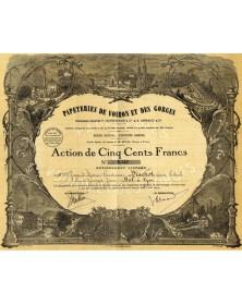 Papeteries de Voiron et des Gorges. Anciennes Stés F. Guérimaud et A. Arnaud