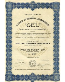 'GEL'' - Glacières et Entrepôts Luxembourgeois