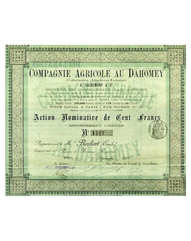 Cie Agricole au Dahomey