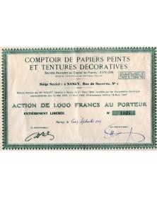 Comptoir de Papiers peints et Teintures Décoratives