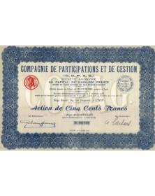 Cie de Participations et de Gestion (C.O.P.A.G.)