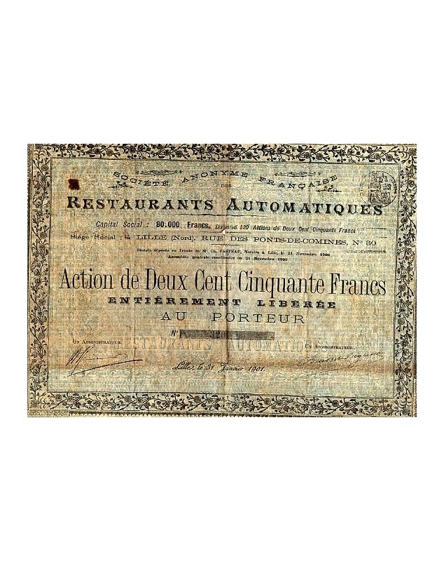S.A. des Restaurants Automatiques