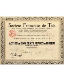 Sté Française de Talc