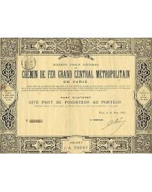 Sté Civile d'Etude du Chemin de Fer Grand Central Métropolitain de Paris (Projet J.-A. Théry)