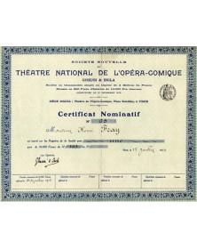 Sté Nouvelle du Théatre National de L'Opéra-Comique Gueusi & Isola