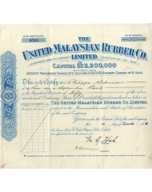 The United Malaysian Rubber Co. Ltd