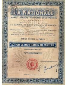 La Nationale. Vernis - Couleurs - Peintures sous-Marines Jean Eschmann & Cie