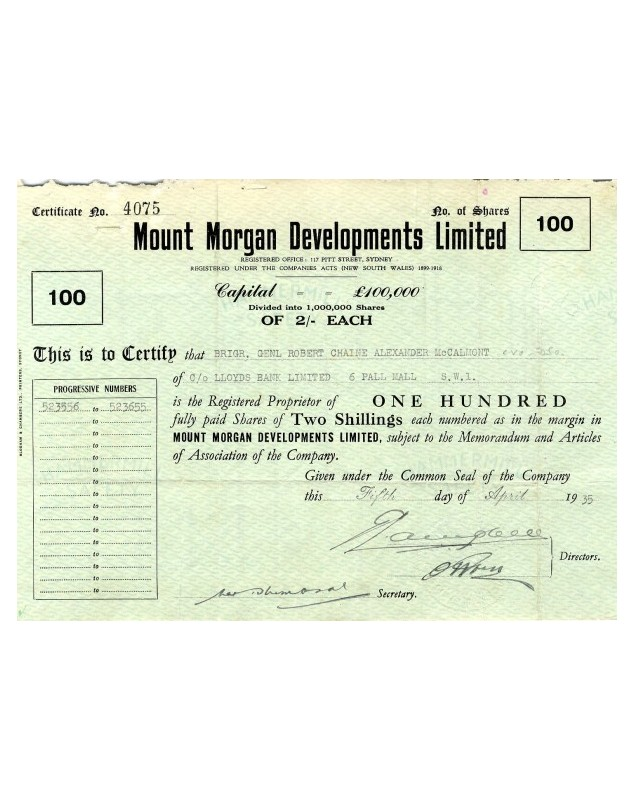 Mount Morgan Developments Ltd