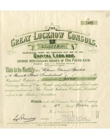 The Great Lucknow Consols Ltd