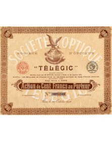 """Sté d'Optique -Télégic-"""""""""""