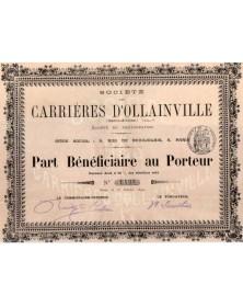 Sté des Carrières d'Ollainville (Seine & Oise)