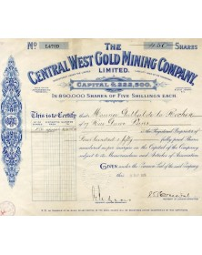 The Central West Gold Mining Company, Ltd.