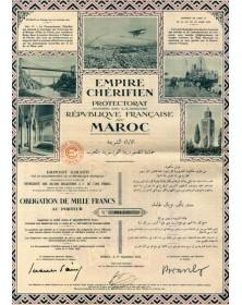 Empire Chérifien (Protectorat de la République Française au Maroc