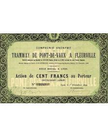 Cie Anonyme du Tramway de Pont-de-Vaux à Fleurville