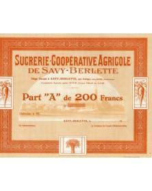 Sucrerie-Coopérative Agricole de Savy-Berlette