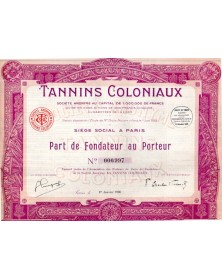 Tannins Coloniaux