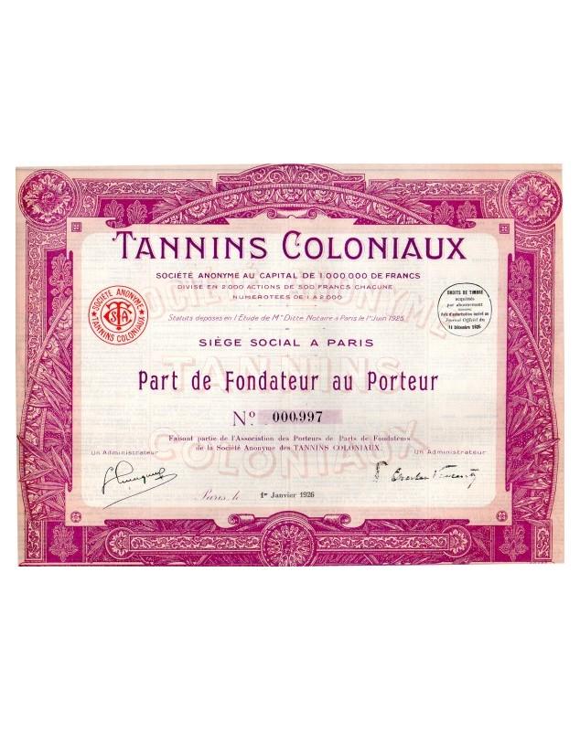 Tannins Coloniaux