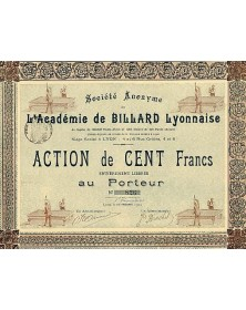 Sté de l'Académie de Billard Lyonnaise