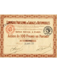 Cie Parisienne de Garages d'Automobiles