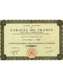 Sté Anonyme de Garages de France