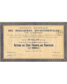 Sté Générale des Messageries Départementales par Automobiles