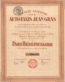 Sté Anonyme des Auto-Taxis Jean Gras