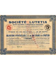 """-Lutetia-"""" Sté Immobilière et d'Exploitations Automobiles"""""""
