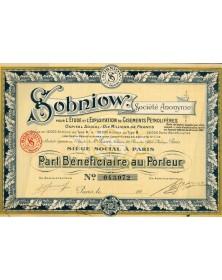 Sobniow - Etude et Expl. de Gisements Pétrolifères