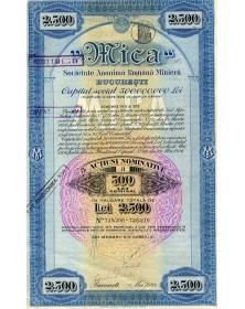 Mica - Sté minière Roumaine