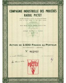Cie Industrielle des Procédés Raoul Pictet