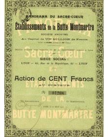 Panorama du Sacré-Coeur et Etablissements de la Butte Montmartre