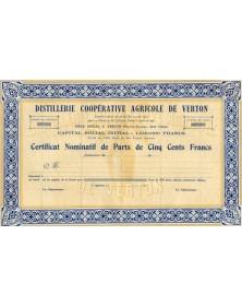 Distillerie Coopérative Agricole de Verton